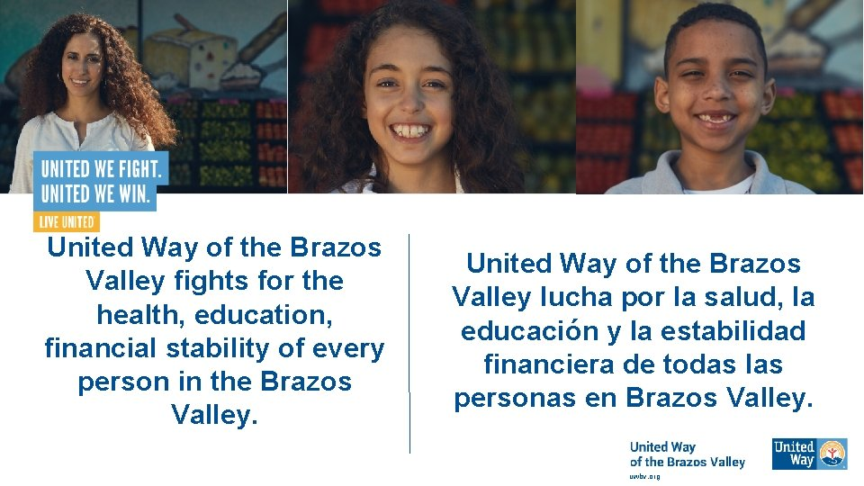 United Way of the Brazos Valley fights for the health, education, financial stability of