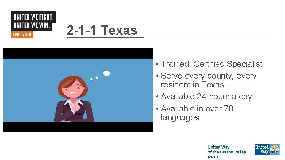 2 -1 -1 Texas • Trained, Certified Specialist • Serve every county, every resident