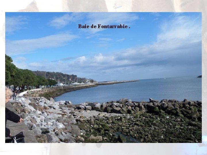 Baie de Fontarrabie.