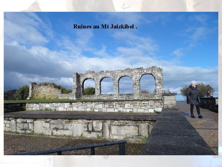 Ruines au Mt Jaizkibel.