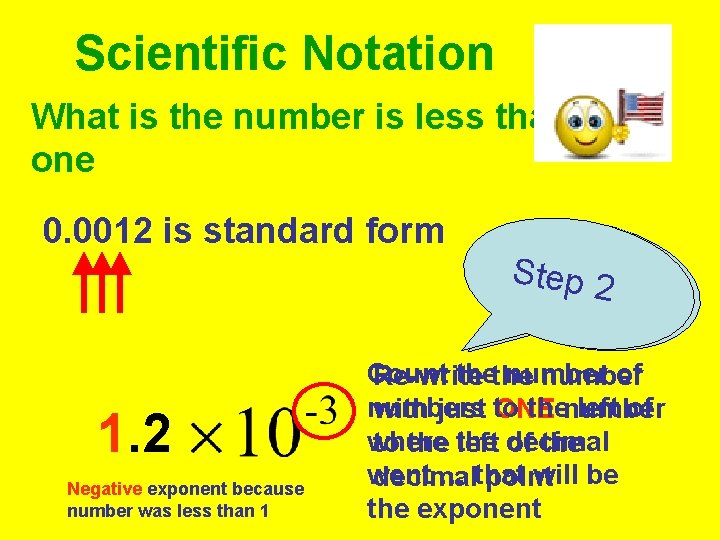 Scientific Notation What is the number is less than one 0. 0012 is standard
