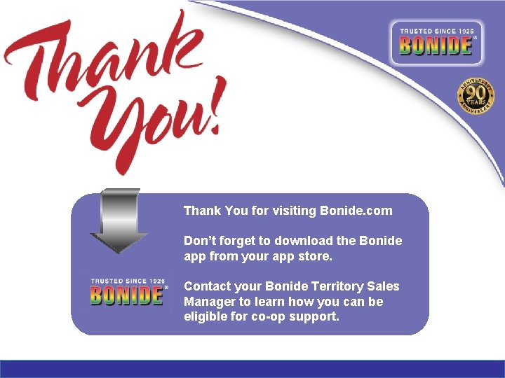 Thank You for visiting Bonide. com Don't forget to download the Bonide app from