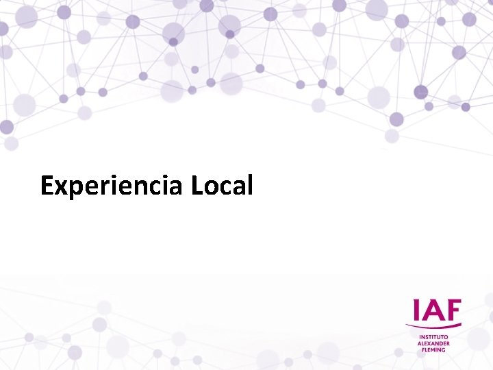 Experiencia Local