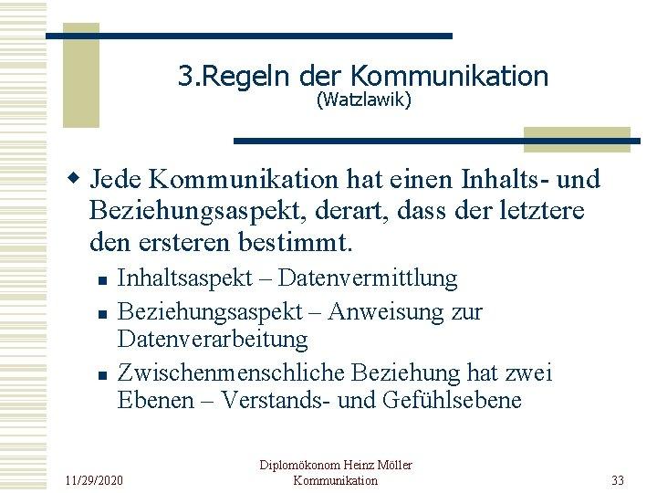 Kommunikation beziehungsaspekt