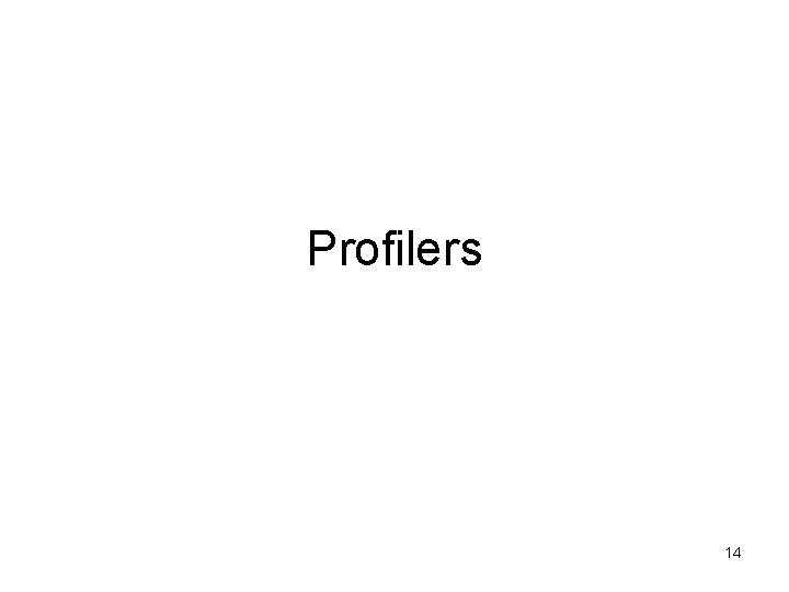 Profilers 14