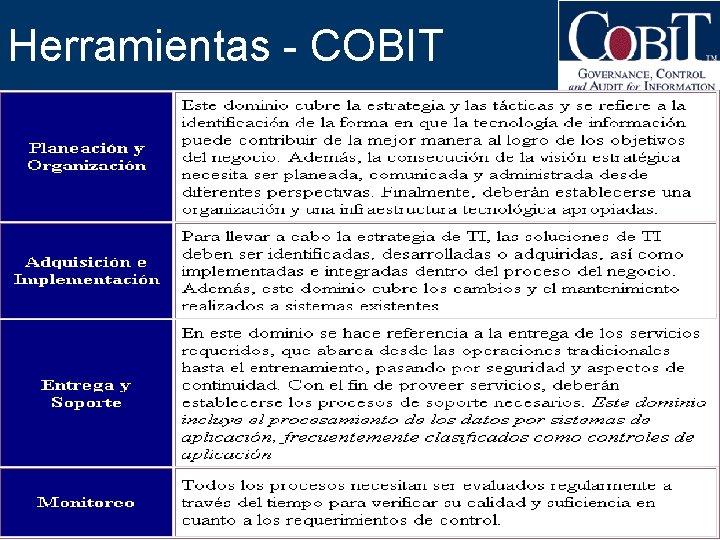 Herramientas - COBIT