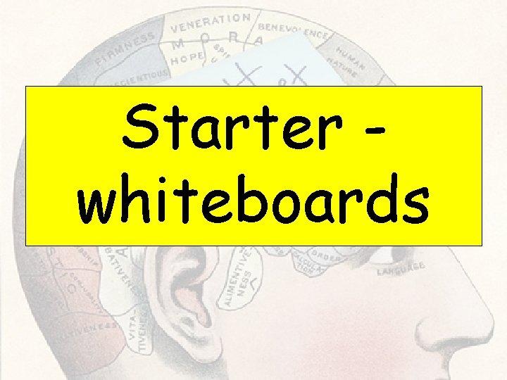 Starter whiteboards