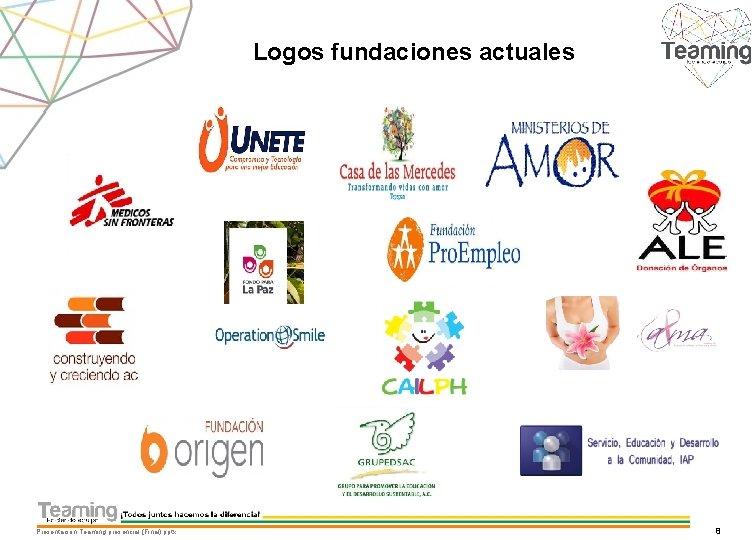 Logos fundaciones actuales Presentacion Teaming presencial (Final). pptx 8