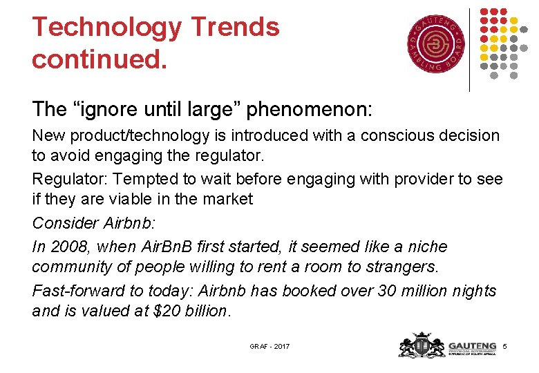 """Technology Trends continued. The """"ignore until large"""" phenomenon: New product/technology is introduced with a"""