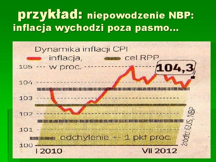przykład: niepowodzenie NBP: inflacja wychodzi poza pasmo…