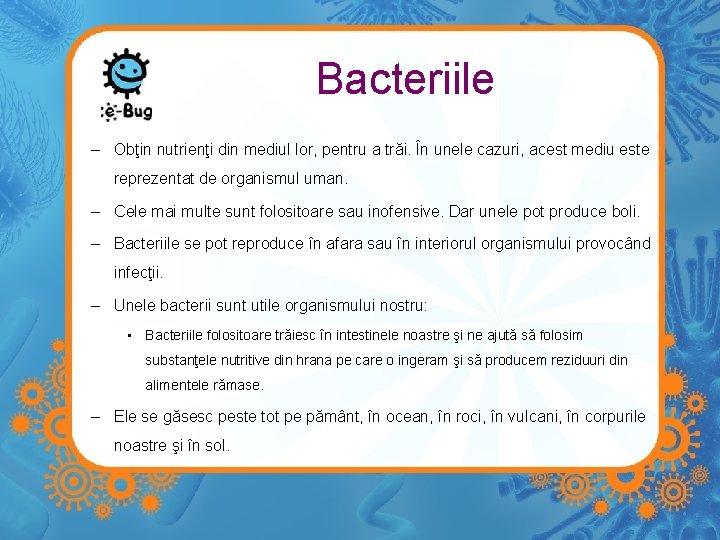 bacterii folositoare)