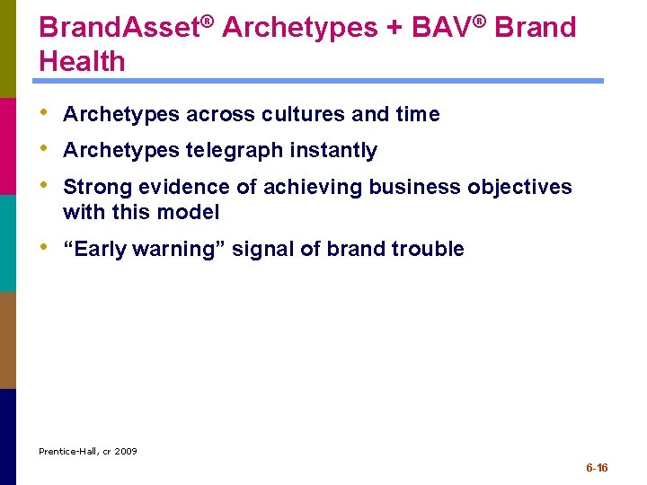 Brand. Asset® Archetypes + BAV® Brand Health • Archetypes across cultures and time •