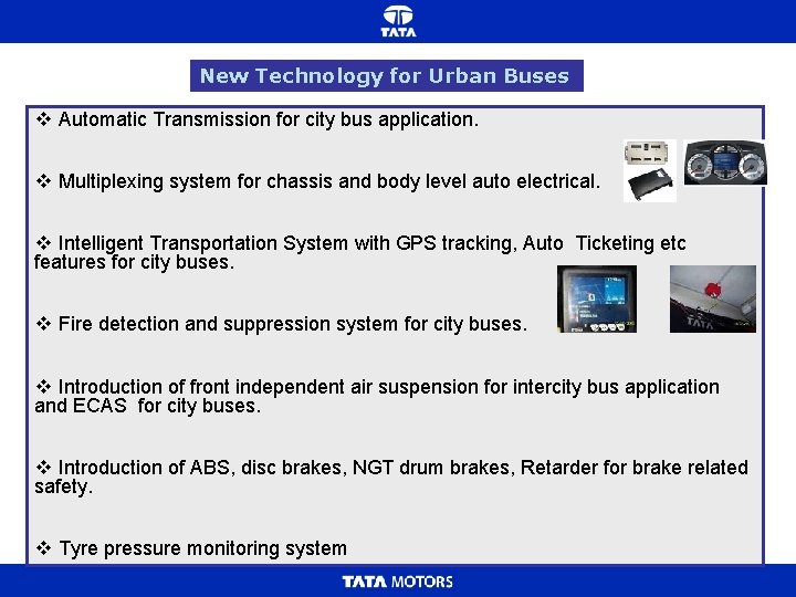 New Technology for Urban Buses v Automatic Transmission for city bus application. v