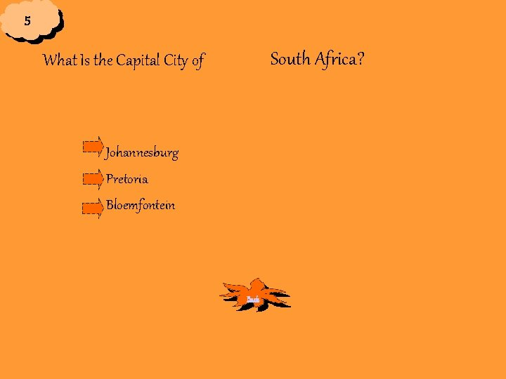 5 South Africa? What Is the Capital City of Johannesburg Pretoria Bloemfontein Back