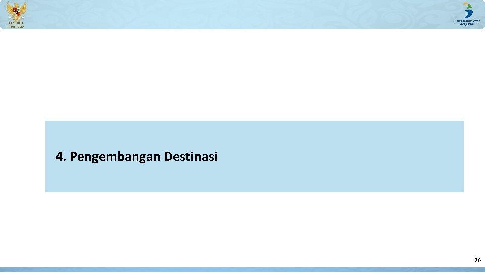 REPUBLIK INDONESIA 4. Pengembangan Destinasi 26