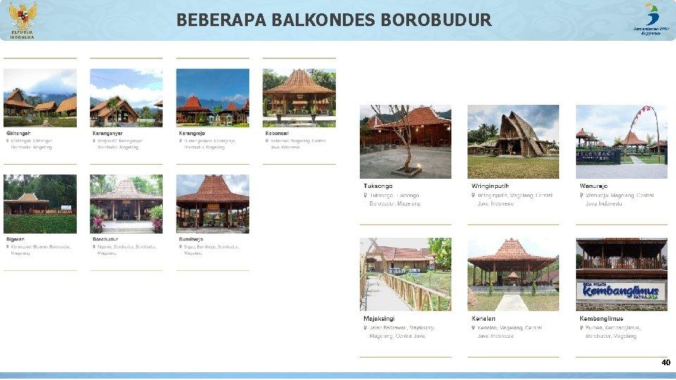 BEBERAPA BALKONDES BOROBUDUR REPUBLIK INDONESIA 40