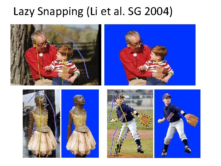 Lazy Snapping (Li et al. SG 2004)