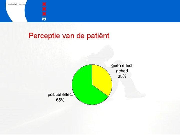 continuiteit van zorg Perceptie van de patiënt