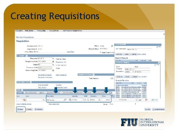Creating Requisitions