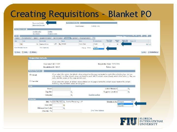 Creating Requisitions – Blanket PO