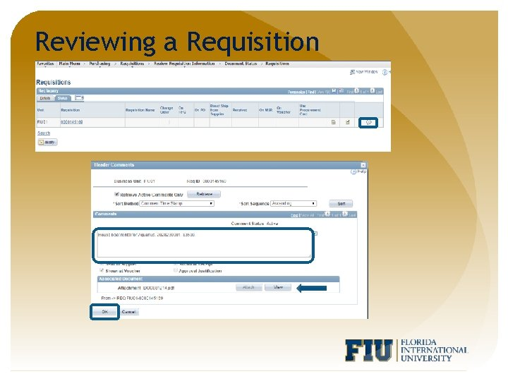 Reviewing a Requisition
