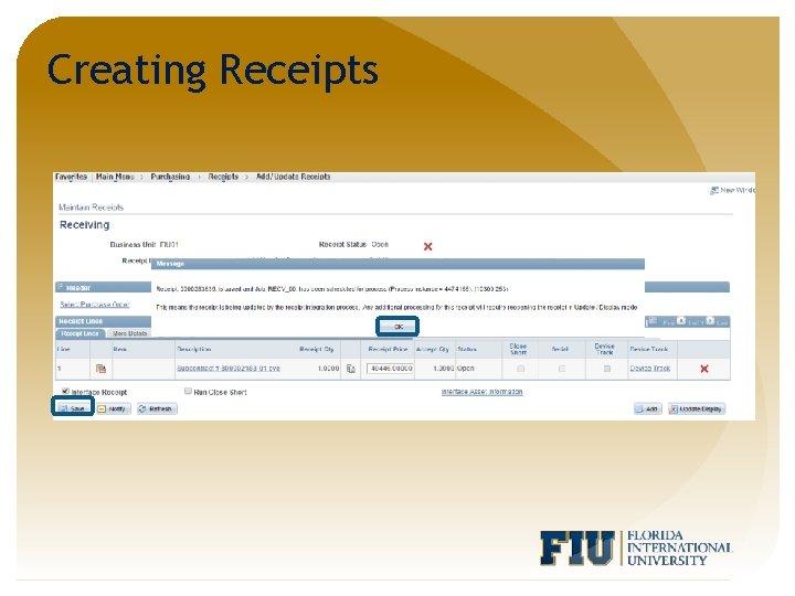 Creating Receipts
