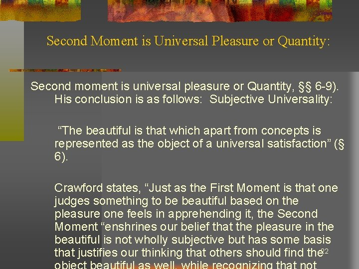 Second Moment is Universal Pleasure or Quantity: Second moment is universal pleasure or Quantity,