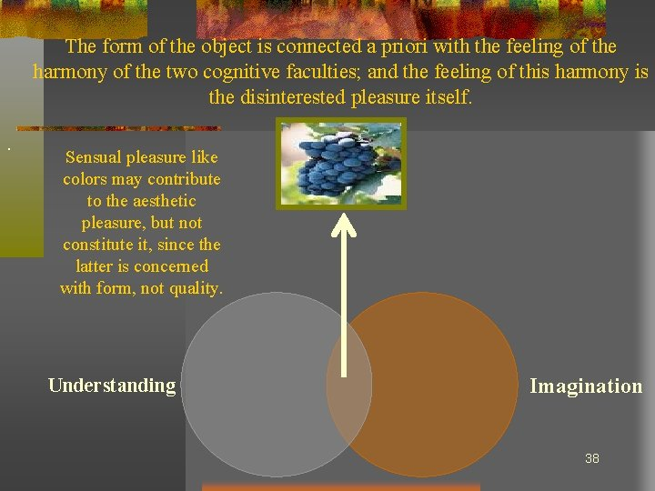 The form of the object is connected a priori with the feeling of the