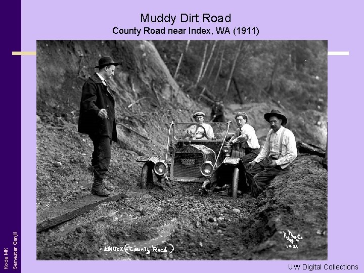 Muddy Dirt Road Semester Ganjil Kode MK County Road near Index, WA (1911) UW