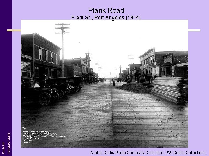 Plank Road Semester Ganjil Kode MK Front St. , Port Angeles (1914) Asahel Curtis