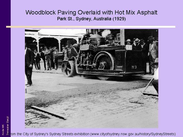 Woodblock Paving Overlaid with Hot Mix Asphalt Semester Ganjil Kode MK Park St. ,
