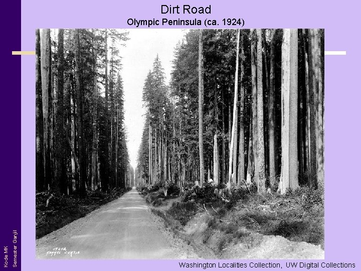Dirt Road Semester Ganjil Kode MK Olympic Peninsula (ca. 1924) Washington Localities Collection, UW