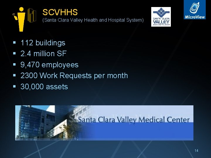 SCVHHS (Santa Clara Valley Health and Hospital System) § § § 112 buildings 2.