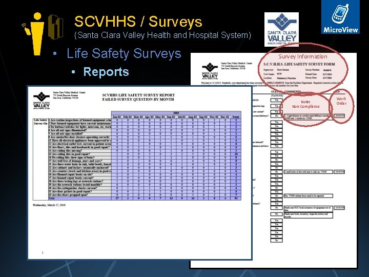 SCVHHS / Surveys (Santa Clara Valley Health and Hospital System) • Life Safety Surveys