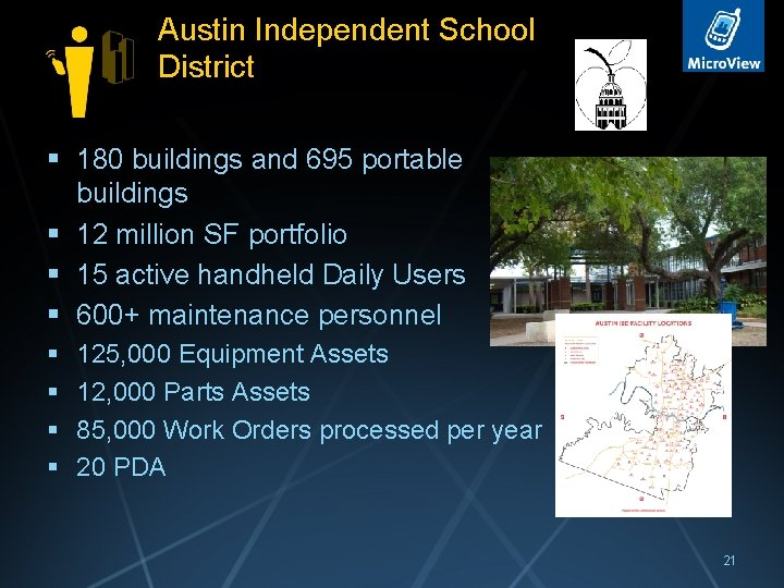 Austin Independent School District § 180 buildings and 695 portable buildings § 12 million
