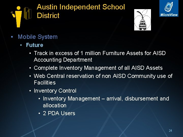 Austin Independent School District • Mobile System • Future • Track in excess of