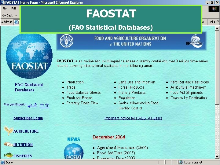 FAOSTAT (FAO Statistical Databases)