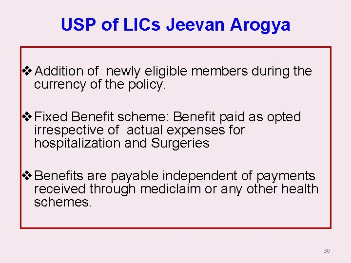 USP of LICs Jeevan Arogya v Addition of newly eligible members during the currency