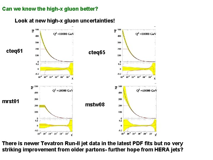 Can we know the high-x gluon better? Look at new high-x gluon uncertainties! cteq