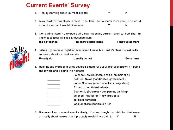 Current Events' Survey