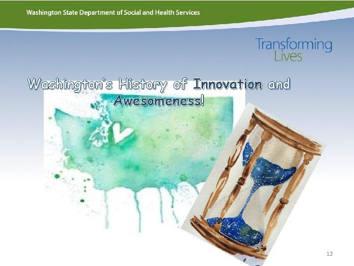 Washington's History of Innovation and Awesomeness! 12