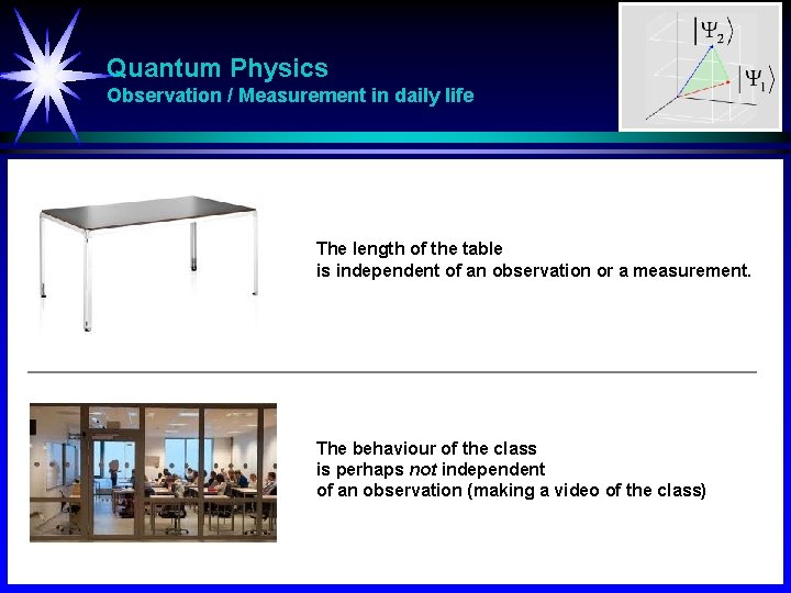 Quantum Physics Observation / Measurement in daily life The length of the table is