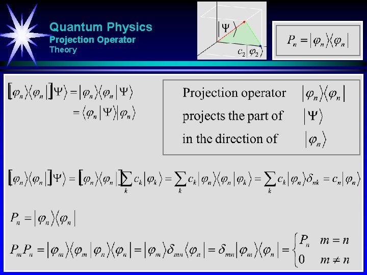 Quantum Physics Projection Operator Theory