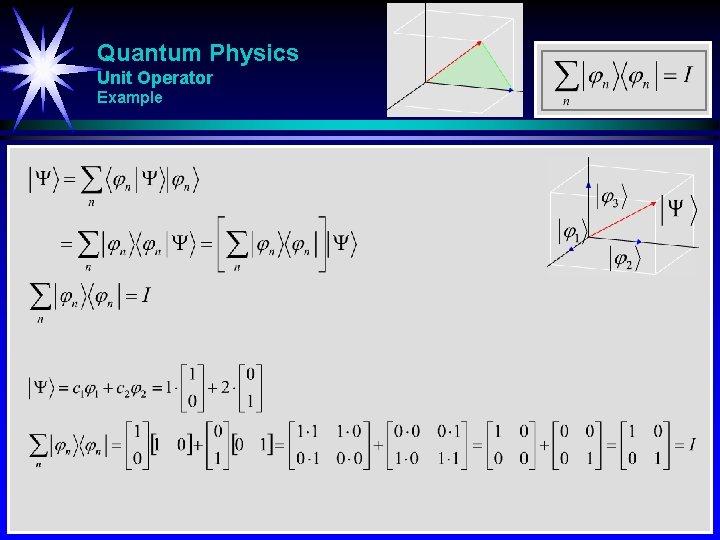 Quantum Physics Unit Operator Example