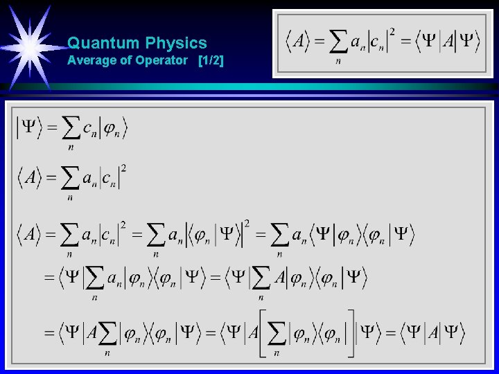 Quantum Physics Average of Operator [1/2]