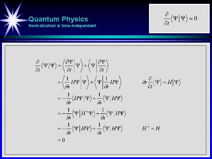 Quantum Physics Normalization is time-independent