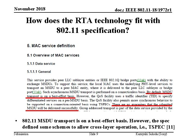 November 2018 doc. : IEEE 802. 11 -18/1972 r 1 How does the RTA