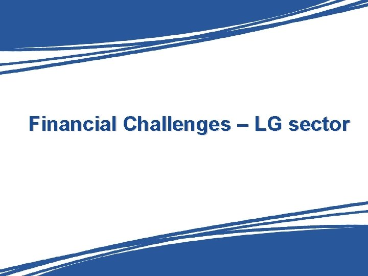 Financial Challenges – LG sector