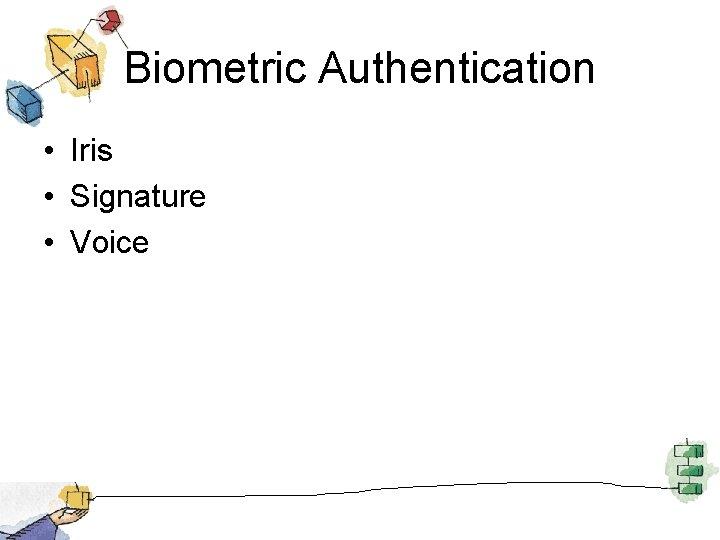 Biometric Authentication • Iris • Signature • Voice