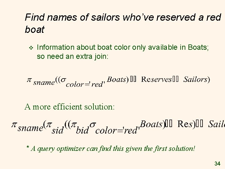 Find names of sailors who've reserved a red boat v Information about boat color